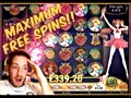 Mega Moon Princess Win!! Max Free Spins! ( Online